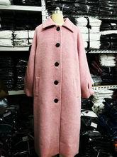 2018新款仿貂绒毛呢外套女装秋冬中长款赫本风呢子大衣小个子流行