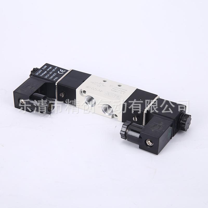专业生产4v100系列二(三)位五通电磁阀 4v120-06气动电磁阀图片
