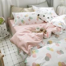 純棉全棉四件套 單人雙人被套床單床笠三件套被罩簡約床上用品