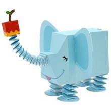 纸动物园 大象 3D纸模型玩具 亲子DIY  幼儿园活动手工折纸