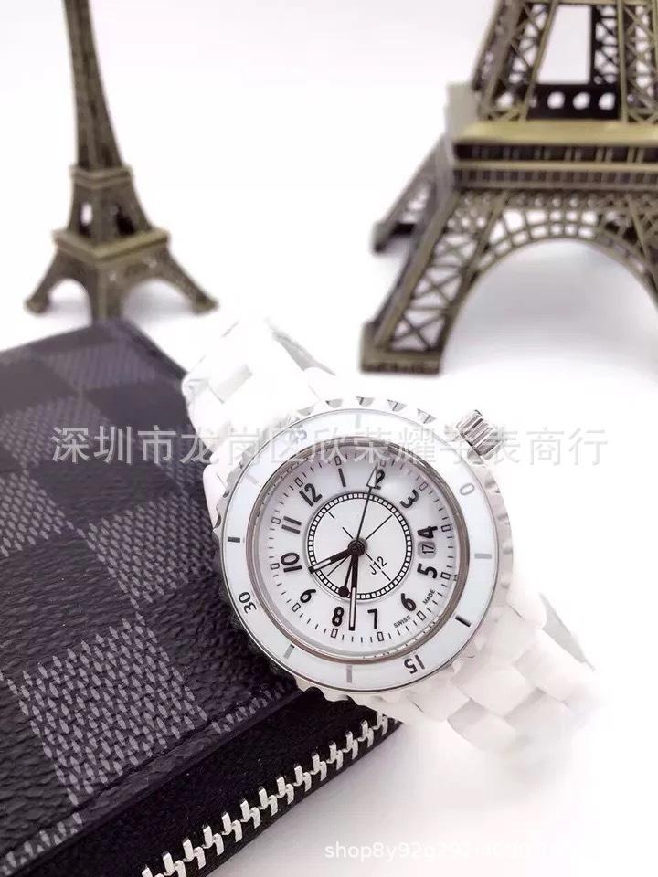 批发 爆款J12 陶瓷手表小香瑞士正品石英表 情侣手表 女表