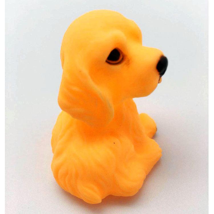 搪胶小动物 儿童婴儿洗澡玩具捏捏叫小乌龟小狗搪胶仿真动物