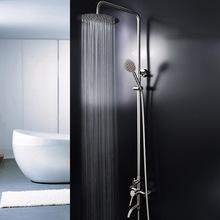 304不锈钢淋浴花洒套装 新款增压花洒头 三功能冷热水龙头批发