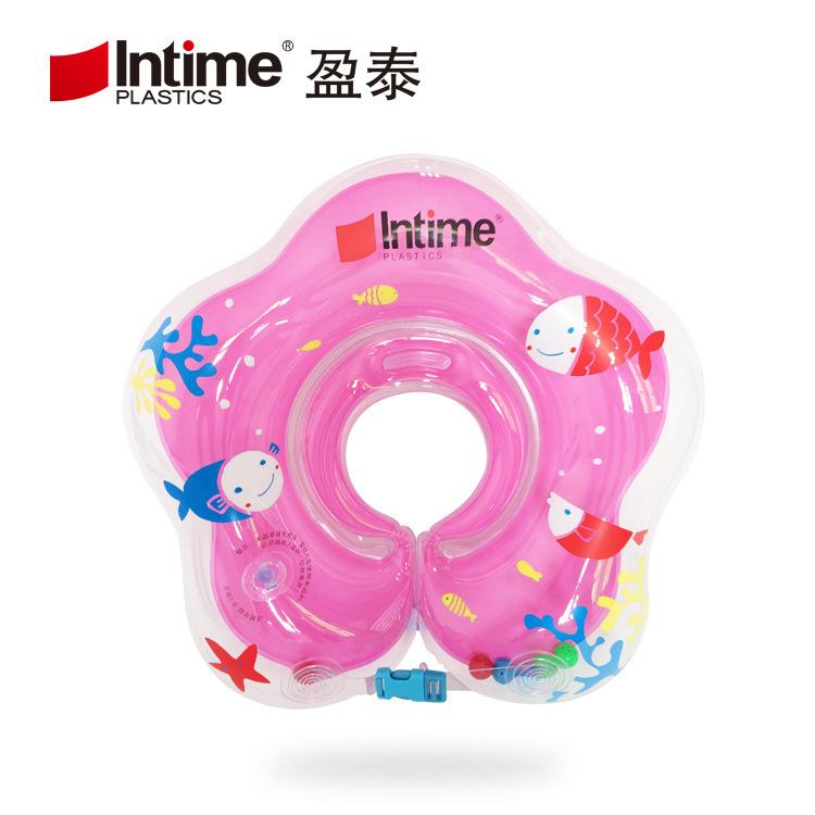 厂家直销  婴儿游泳圈 充气防后仰双气囊脖圈 加厚调节新生儿颈圈