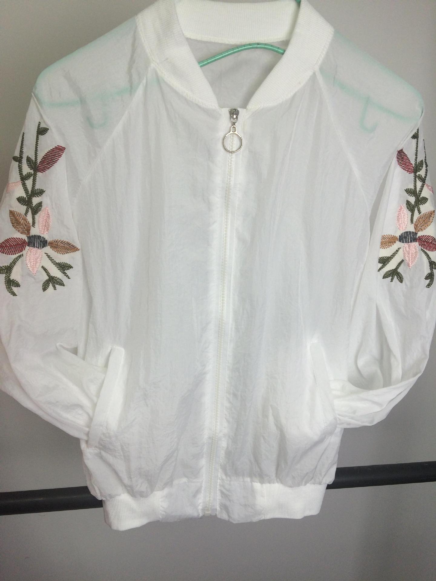 夏季时尚韩版防辐射防晒衣,出游百搭防紫外线夹克型绣花皮肤衣女