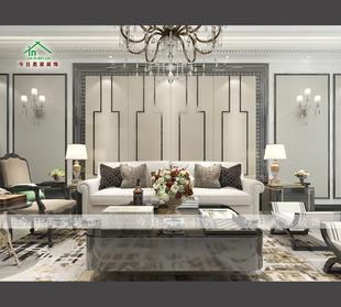 厂家定制主卧床头不锈钢硬包背景墙 欧式简约客厅电视背景墙硬包