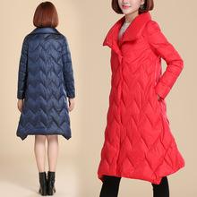 轻薄羽绒服女中长款2018新款冬季韩版宽松时尚女士立领外套长过膝