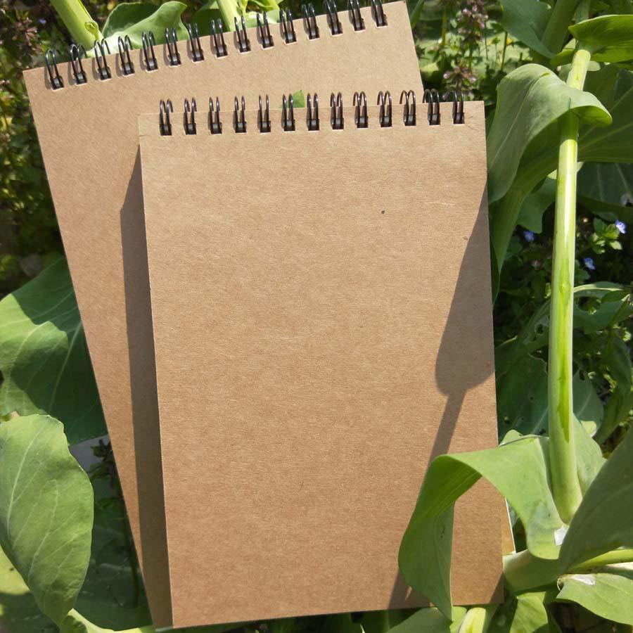 厂家直销 A5复古牛皮纸素描本 涂鸦空白本 上翻线圈笔记本