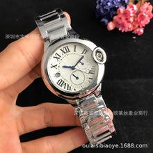 潮流时装石英手表女士蓝指针款式潮卡时装手表小指针带日历功能款