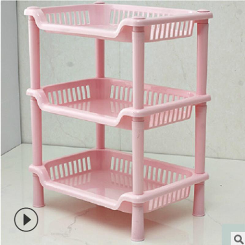 浴室三層方形/三角置物架 廚房收納塑料儲物架 落地衛生間收納架