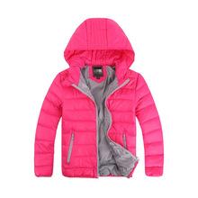 外貿兒童羽絨服 短裝男女童連帽休閑外套2019冬裝新款中大童輕薄