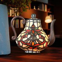 廠家直銷 帝凡尼臥室床頭小夜燈趣味創意禮品茶壺裝飾擺件燈