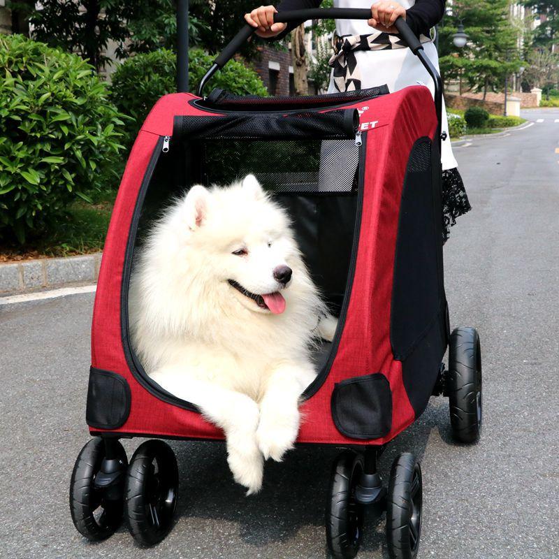 DODOPET大型宠物推车 巨型犬推车大狗推车伤病老残犬拉车厂家直供