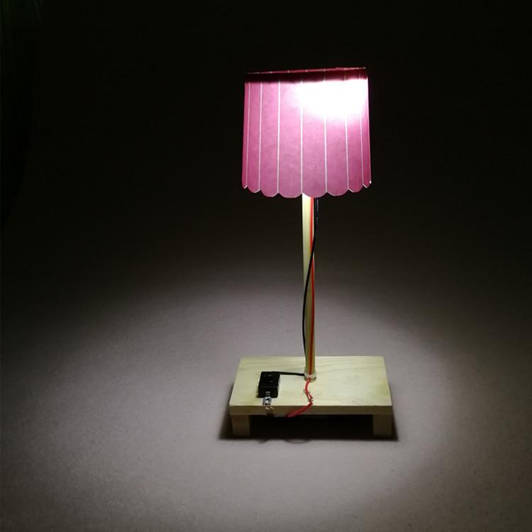 自制创意小台灯 小夜灯 diy科技小制作小发明环保手工拼装模型