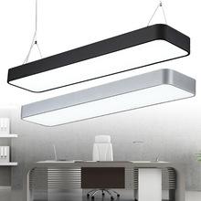 LED長條辦公室吊燈長方形簡約現代吸頂燈超市商場學校吊線燈批發