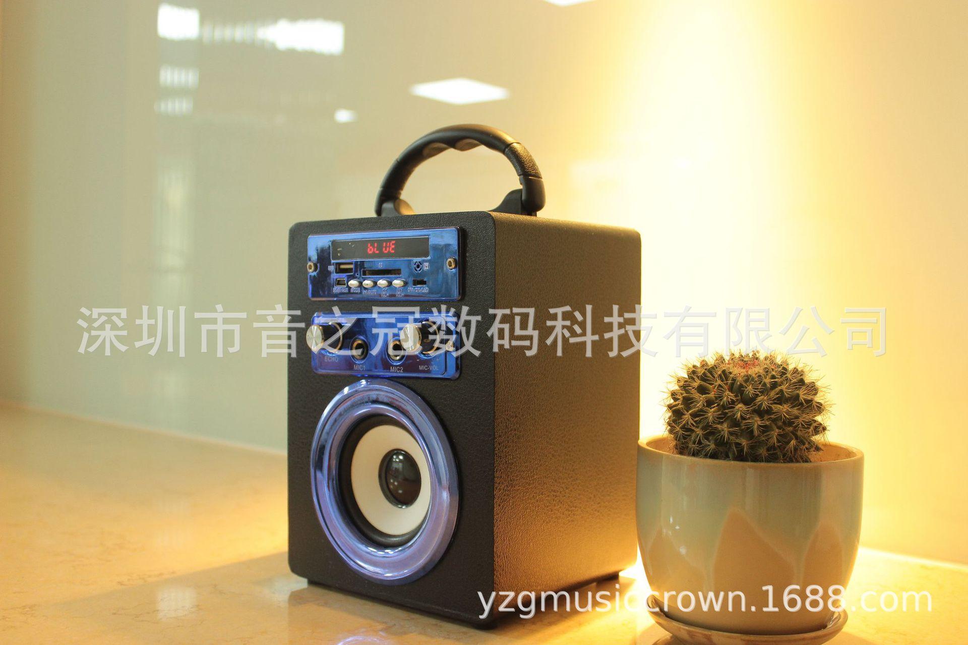新款双卡拉ok木质蓝牙音箱便携式多功蓝牙音响广州海珠区附近v木质图片
