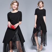 2018夏季新款裙?#20248;?#32654;时尚欧货潮女装气质名媛连衣裙女 外贸