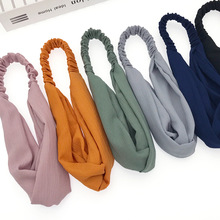 韓版新款簡約發帶時尚流行頭巾女士百搭頭帶小清新經典發飾頭飾