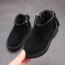 2018秋冬新款韩版靴子女童英伦风马丁靴时尚防水短靴大棉保暖棉靴