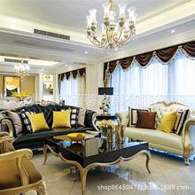 欧式沙发组合套装客厅整装简欧小户型奢华后现代简约轻奢真皮沙发