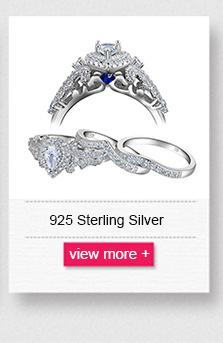 Newshe 2 Pcs Halo 925 Sterling Silver Wedding Rings For Women 1.5 Ct Round pear Cut AAA CZ Classic Jewelry Engagement Ring Set