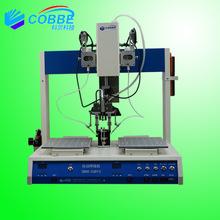 广东焊锡机双工位变压器线路板接线整排式全自动锡焊机双头焊锡机