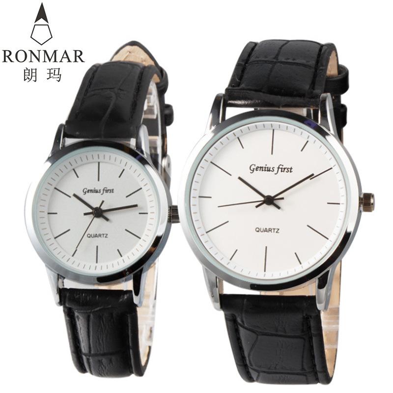 石英表礼品手表批发时尚皮带同款男女手表学生表促销情侣手表一对