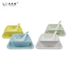 永昌盛甜品碗套装彩色仿瓷餐具水果糖水点心冰淇淋碗布丁碗批发
