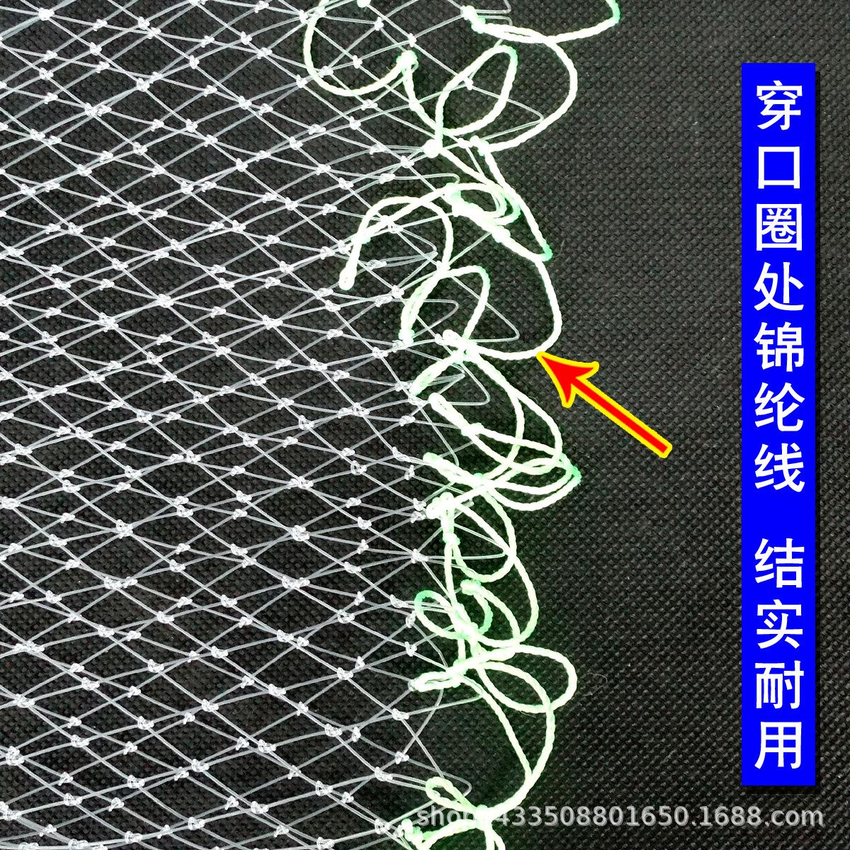 钓鱼线抄网头 手工编织大鱼网兜 矶钓抄网 渔网渔具厂家定制批发