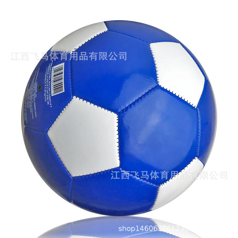 厂家批发 经典5号机缝足球 学生校园儿童训练PVC足球 可定制logo