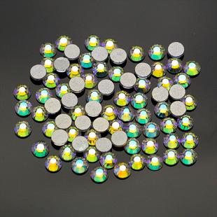美甲平底钻批发水钻diy饰品指甲配饰贴钻白色透明玻璃圆水晶小钻
