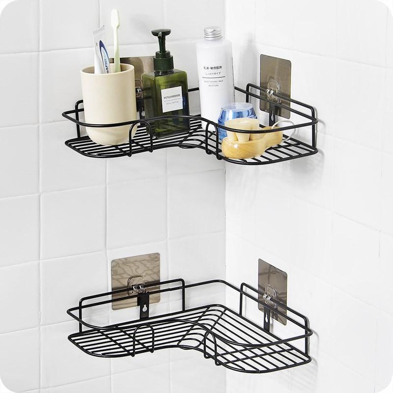 浴室置物架免打孔壁掛式衛浴廁所洗手間墻上洗澡三角形收納衛生間