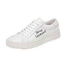 男鞋夏季透气系带板鞋白色运动休闲鞋韩版潮流平底小白鞋男士百搭