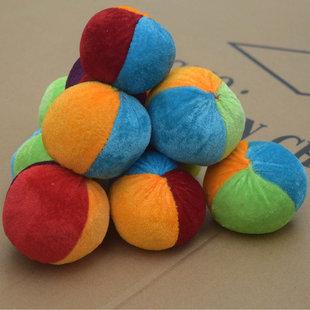 幼儿园玩具小学生儿童沙包帆布软沙小包 手工丢沙包扔踢毽子沙包