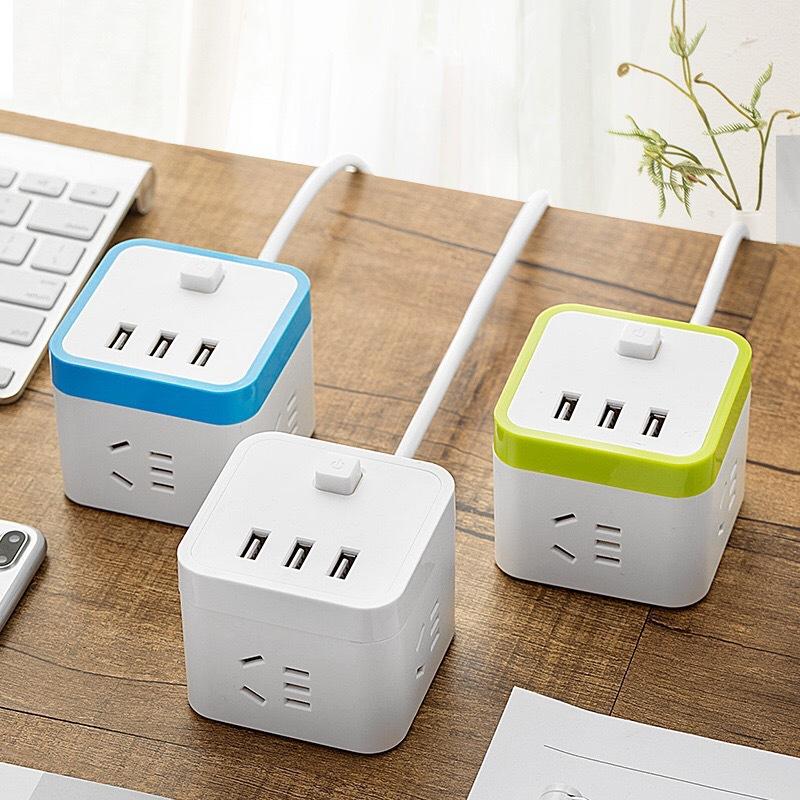 创意智能USB插座 便捷旅行插排 学生寝室接线板 手机充电插排批发