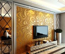 ebay速卖通热卖现代简约线条无纺布3d立体墙纸客厅电视背景墙壁纸