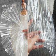 创意压褶透明褶皱tpu防水透视服装雨衣布料 原创设计师时装面料