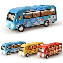 铠威新品合金中巴模型公交车小型客车车模儿童玩具车批发
