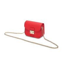 歌菲妮2018新款牛皮迷你链条包锁扣小方包单肩包小包包斜挎包女包