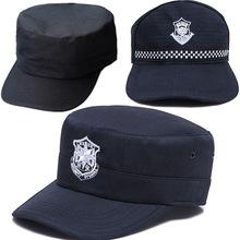 新式保安便帽夏季透气帽子 保安制服帽子棒球帽作训帽黑色