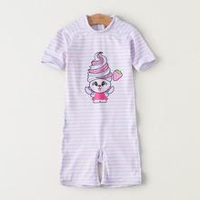 亦美珊儿童游泳衣女童女孩泳装婴儿连体套装宝宝分体小中大童