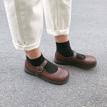 春季韩版复古可爱软?#20204;?#21475;小皮鞋玛丽珍鞋大头鞋学生女