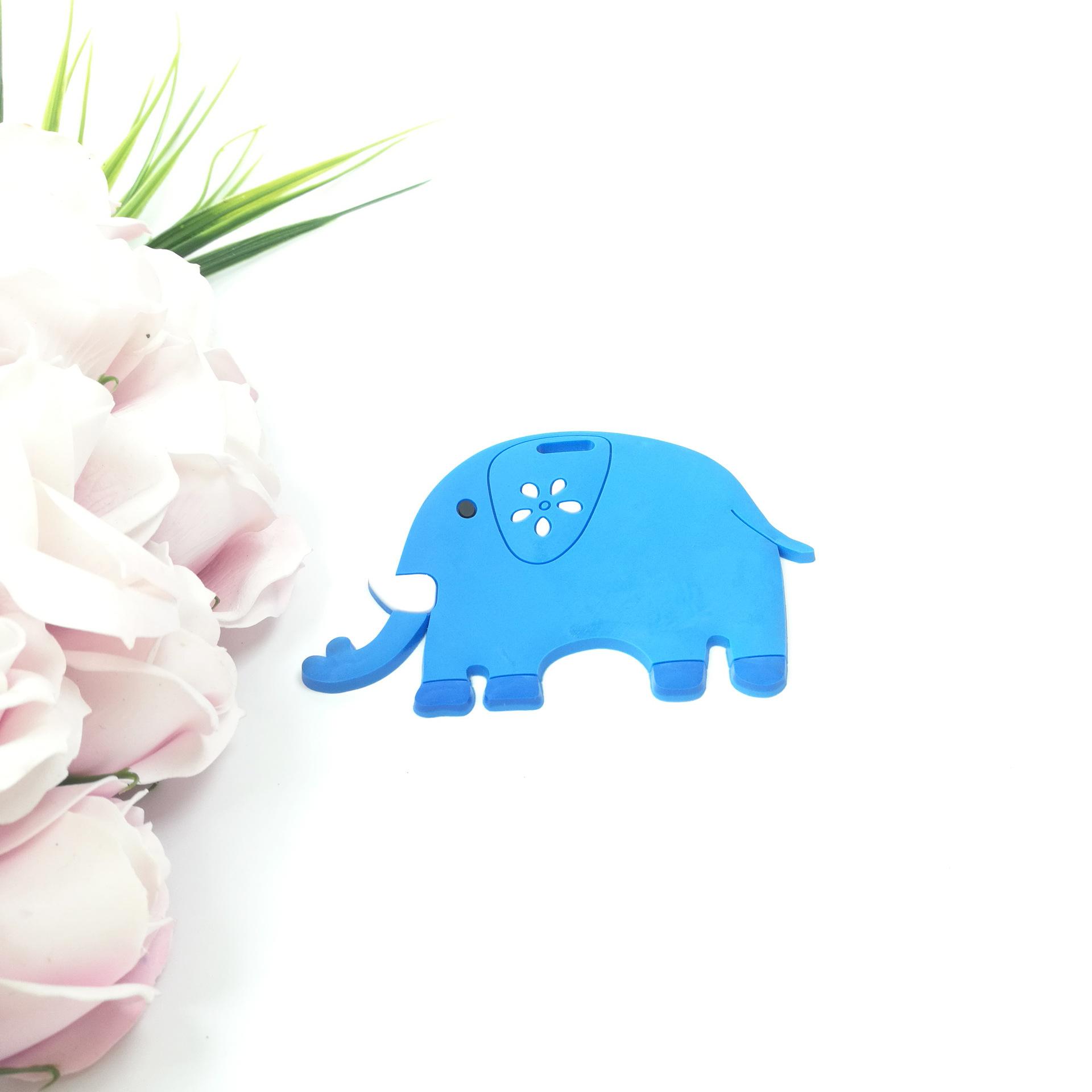 pvc软胶小动物服装皮标 小熊小象猴子卡通服装装饰标牌 厂家定做