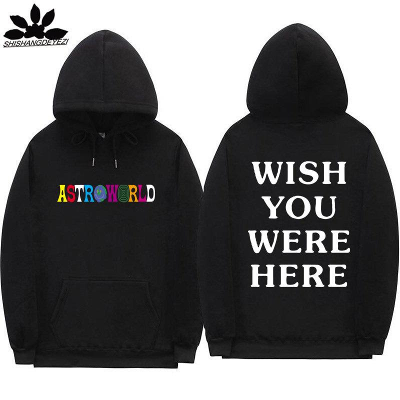 欧美 Astroworld WISH YOU WERE HERE 帽衫运动衫 男女连帽卫衣