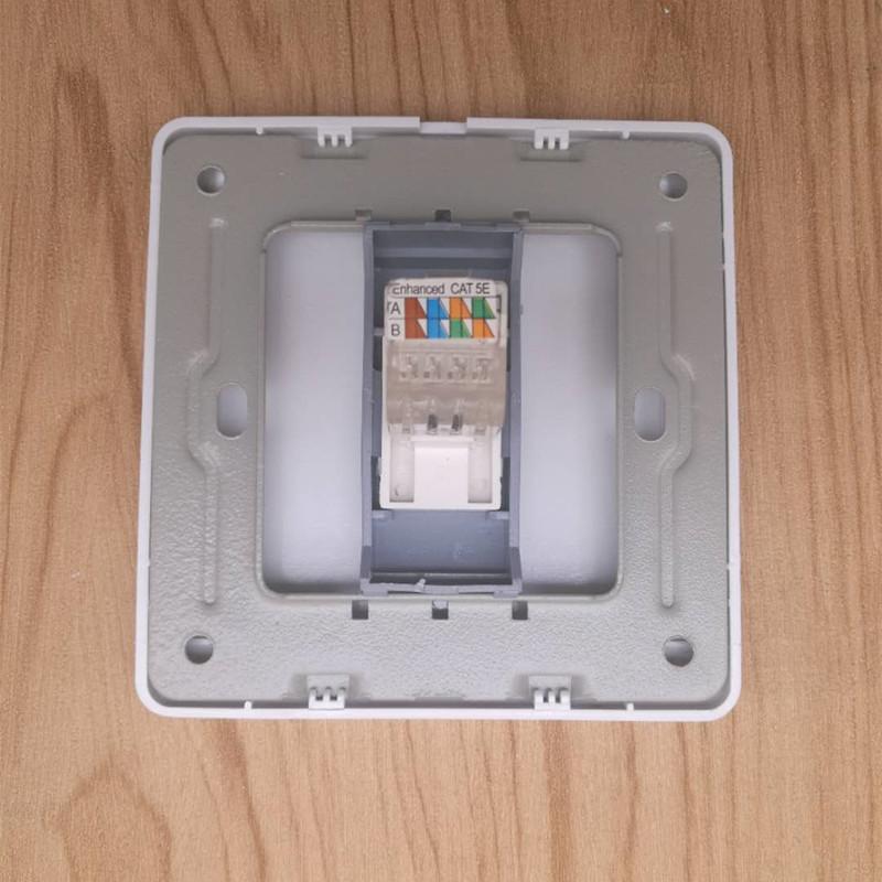 批发86型电脑网络墙壁插座 光纤网线面板