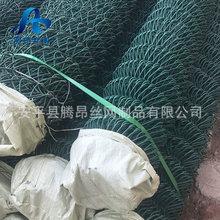 PVC包胶编织菱形勾花网   动物园安全防护隔离网   可定制