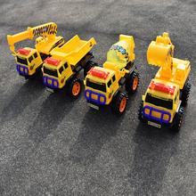 儿童沙滩玩具滑行工程车翻斗车吊机推土机挖土机挖掘机搅拌车模型