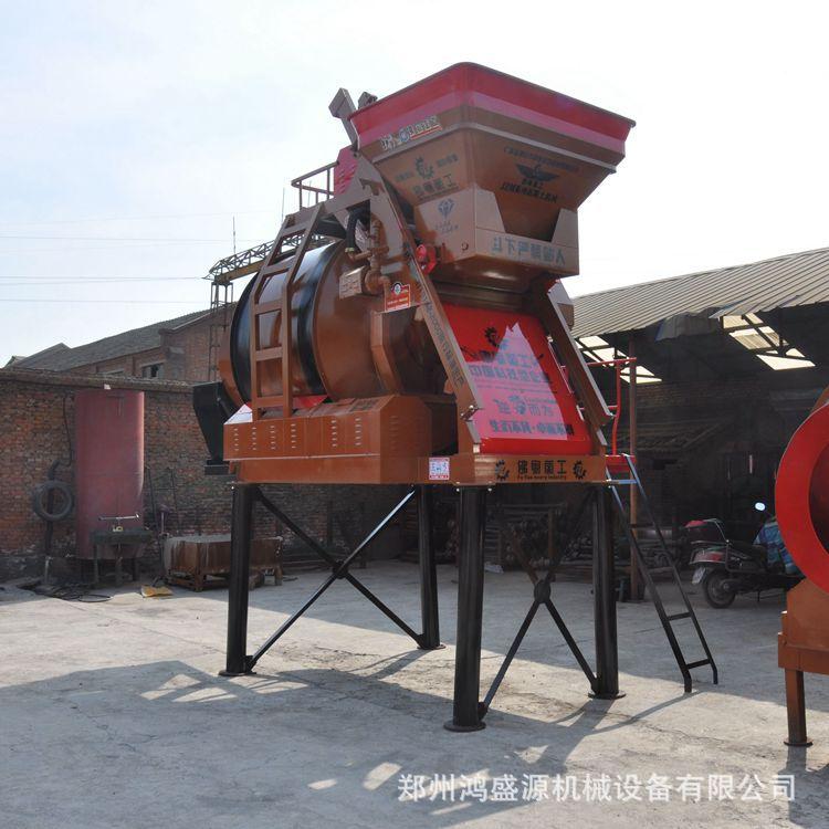 产地货源供应摩擦皮轮750/1000鹅卵石混凝土搅拌机加高支腿可移动图片