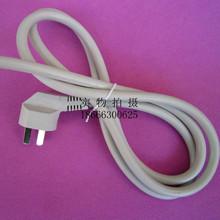 批发供应灰白色CCC国标三芯弯插1.5米RVV3*1.5CCA电源线加工定制