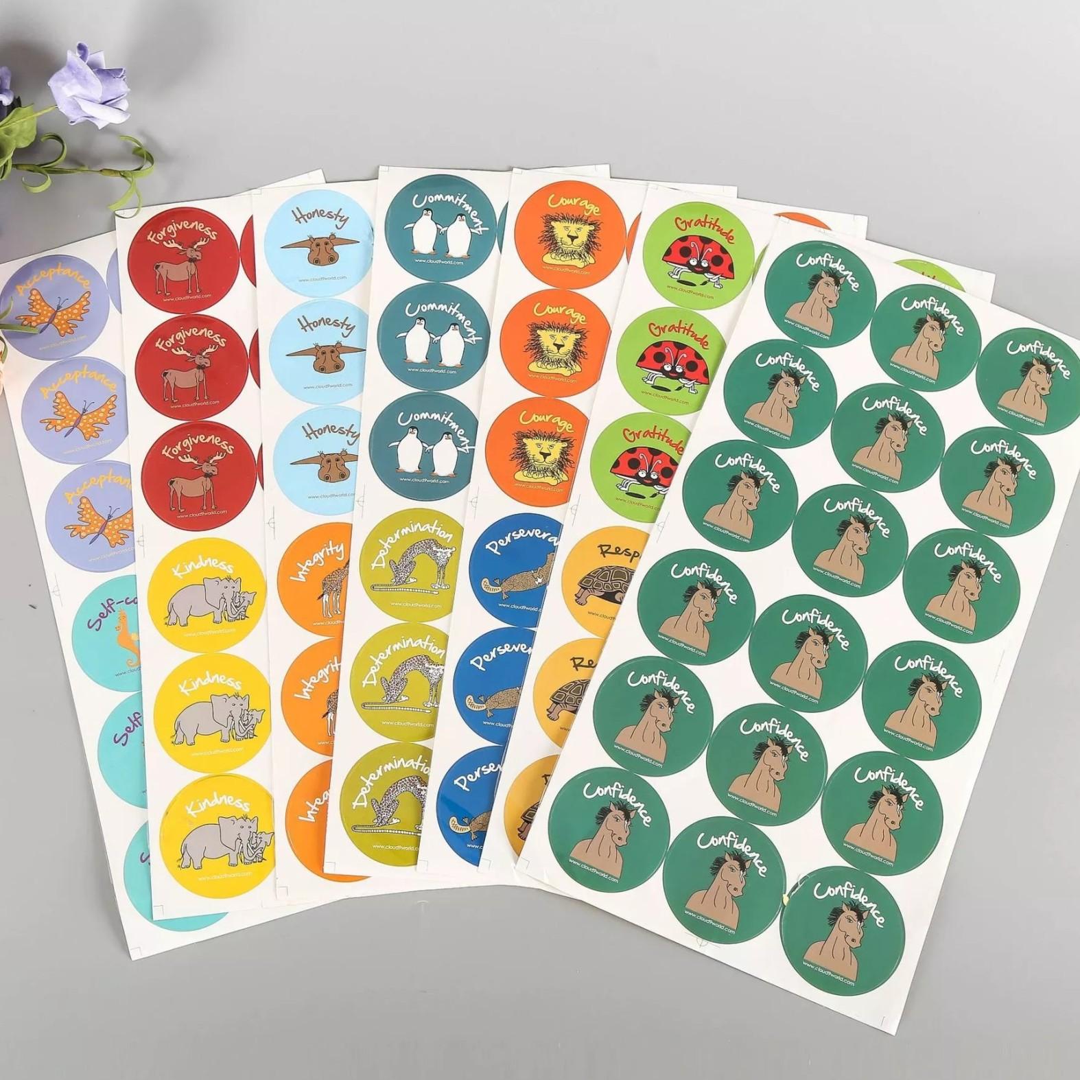 创意牛皮纸不干胶定制不干胶贴纸圆形不干胶标签商标印刷定制logo